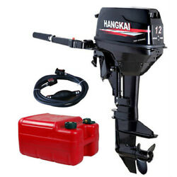 2 Stroke 12hp Outboard Motor Fishing Boat Engine Water Cooled Cdi System Hangkai