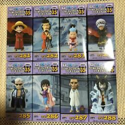 One Piece Wcf World Collectable Figure Vol.35 All 8 Set Luffy Law Smoker Japan