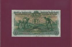 Ireland The Bank Of Ireland 1 Pound 1937 P-8a Xf+ Key Date Ploughmans