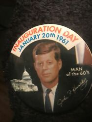 John F Kennedy Memorabilia. Two Political Buttons . A Medal And A Invite.