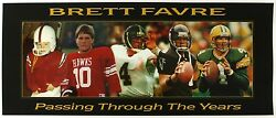 1990's Brett Favre Green Bay Packers Passing Through The Years Poster 15 X 36