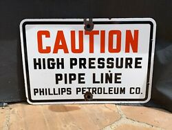 Phillips Petroleum Porcelain Sign Oilfield Gulf Oil And Gas Lease Sign Texaco