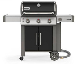 Weber Genesis Ii E-315 3-burner Natural Gas Grill Black W/ Built-in Thermometer