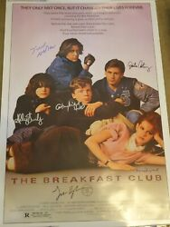 The Breakfast Club 1985 Signed Movie Poster 6 Sigs W/ John Hughes
