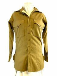 Ww2 Us Usmc 1942 Dated Named Wool Button Shirt 14 Neck