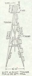 21ft Aermotor Windmill Style Tower, Made With Usa Parts