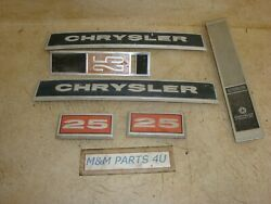 1975 75 76 74 Chrysler 25hp Side Number Name Plates For Top Cowl