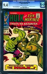 Tales To Astonish 91 Marvel 1967 Cgc 9.4 Nm 2nd Abomination / 1st Cover App