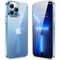 For iPhone 13 Pro Max 13 Pro 13 Mini Case Clear Crystal Cover Screen Protector