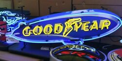 Goodyear Blimp Neon Sign Goodyear Signs Tire Advertising Good Year Blimp Signs