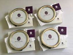 """Lot Of 4 Zaramella Argenti 925 Sterling Silver 5"""" Round Photo/picture Frames"""