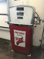 Ao Smith Texaco Fire Chief Porcelain And Stainless Gas Pump