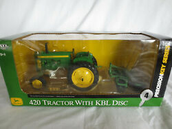 Ertl Precision 1/16 Scale John Deere 420 With Kbl Disc Farm Toy Tractor