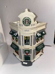 Retired Starbucks Coffee Dept 56 Christmas Holiday Snow Village Lighted House