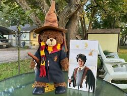 Build A Bear Harry Potter Bear Plush With Gryffindor Robe And Scarf / Hat
