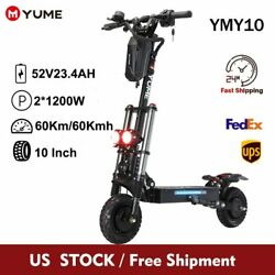 Electric Scooter 10 Dual Motor 2400w Up To 40mileand40mph Off Road Tires Foldable