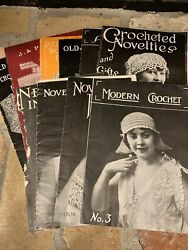 Antique Vintage 1917-1919 Crocheted Crochet Novelties And Gifts Book Lot
