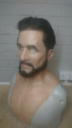 Made To Order Realistic Silicone Young Man Mask With Punched Eyebrows And Hair