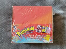 1999 Pokemon Poke Gum And Puzzle Factory Sealed Booster Box