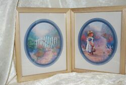 Home Interior Pictures Vintage Girl At A Gate And Kitten At A Gate 9x11x1