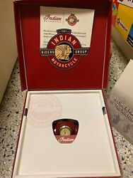 Indian Motorcycle Gas Tank Clock, Pin, 2 Patches In Original Box