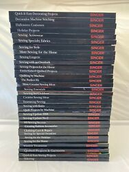 Lot Of 33 Singer Sewing Reference Library Books