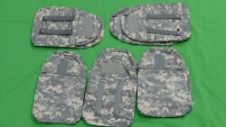 5 Pair Of Army Acu Digital Camouflage Body Armor Side Plate Pocket Carrier Pouch