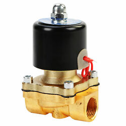 1/2and039and039 Npt Ac110v Brass Electric Solenoid Normally Closed Water Oil J0w0