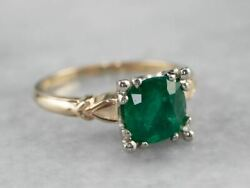 1950and039s Emerald Engagement Ring