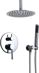 Homary Contemporary Single Handle Wall Mount Shower Combo System High Pressure