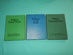 Three Watkins Books 1938 Cook Book, 1941 Household Hints And 1946 Salads