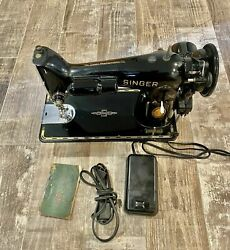 Singer Sewing Machine 201-2 Fully Functioning/restored Collectible