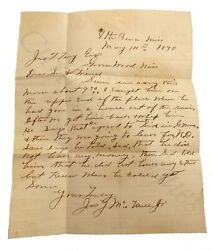Vintage 1890s Runaway African American Sharecropper Slavery Jim Crow Ms Letter