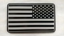 Helm 4 X 6 In. Billet Aluminum Trailer Hitch Cover - American Flag Army Patch