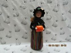 Byers Choice 2021 Halloween Witch With Pumpkin New🎃🎃🎃🎃🎃