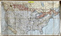 Canadian National Railways, Grand Trunk And Central Vermont Map 1927