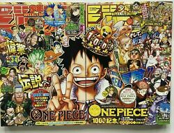 Japanese Anime【weekly Shonen Jump】2021 Vol 3-4 And 5-6 One Piece 999and1000 W/poster