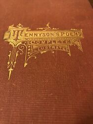 Antique The Complete Works Of Alfred Tennyson Poem Illustrated Edition 1878 Book