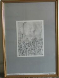 L S Lowry Signed And Numbered Limited Edition Print The Mill Scene