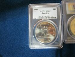 1988 Jamaica 10 Population Of 1 Pcgs Graded Ms69 Year Of The Worker