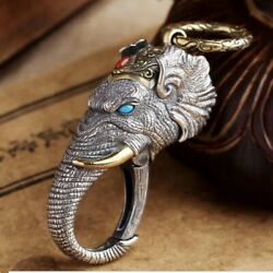 Original 100 925 Sterling Silver Charm Pendant Keychain  christmas Day Gift