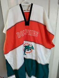 Nfl Football Handmade Poncho Miami Dolphins Mexican Blanket One Size