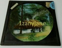 Glass Magic Lantern Slide Ork Ireland The Cabin In The Woods Cottage Color Art
