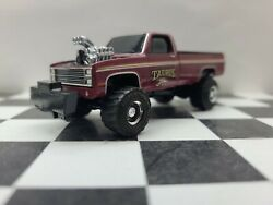 1/64 Greenlight 1980s Chevy 4x4 Pro Hotrod Pulling Truck Square Body Puller Pull