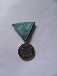The Kingdom Of Serbia Medal For The Zealously Service 1913