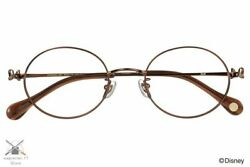 Disney Collection Ribbon Series Minnie Model Glasses Zoff Oval Brown