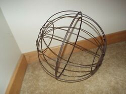 Round Metal Wire Topiary Frame Ball Globe Rustic Farmhouse Sphere Free Shipping