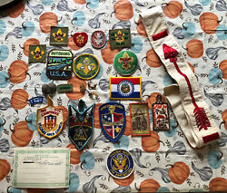 Boy Scouts Of America St Louis Missouri Order Of The Arrow Lot Sash Patches Oa