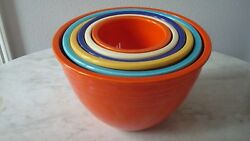 Collectible Antique Fiesta Nesting Bowls 1936 Inner Rings