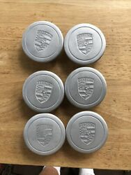 Used Early Porsche Fuchs Wheel Center Caps Used 6 Total Caps Pre-72 3 Prong